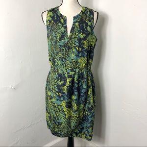 Charlie Jade Blue Green Sleeveless Dress M